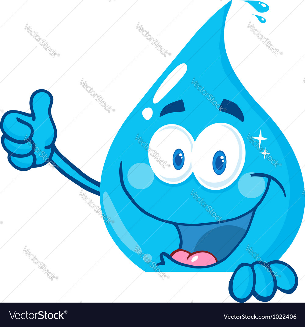 Water Drop Showing Thumbs Up