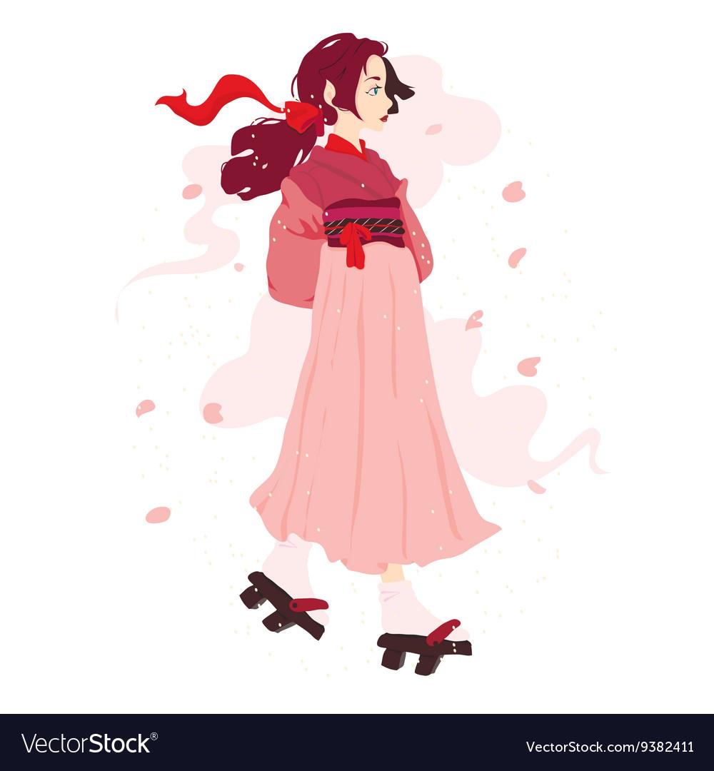 A japanese geisha