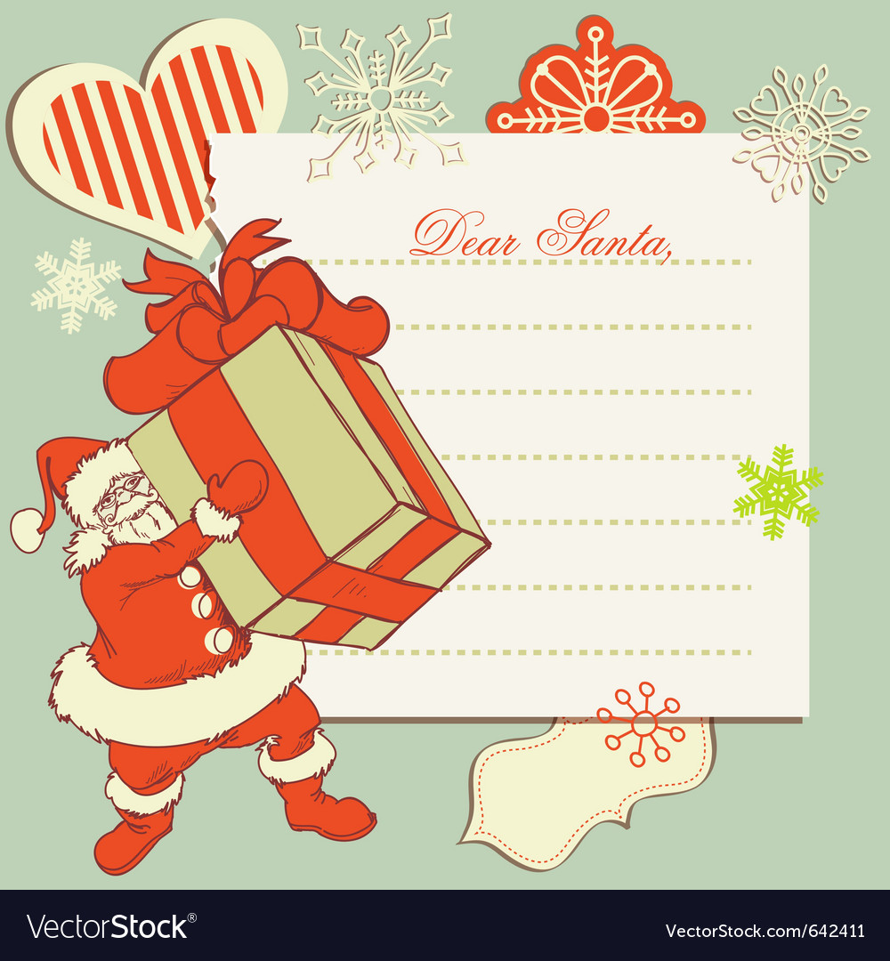 A Letter To Santa Claus Royalty Free Vector Image