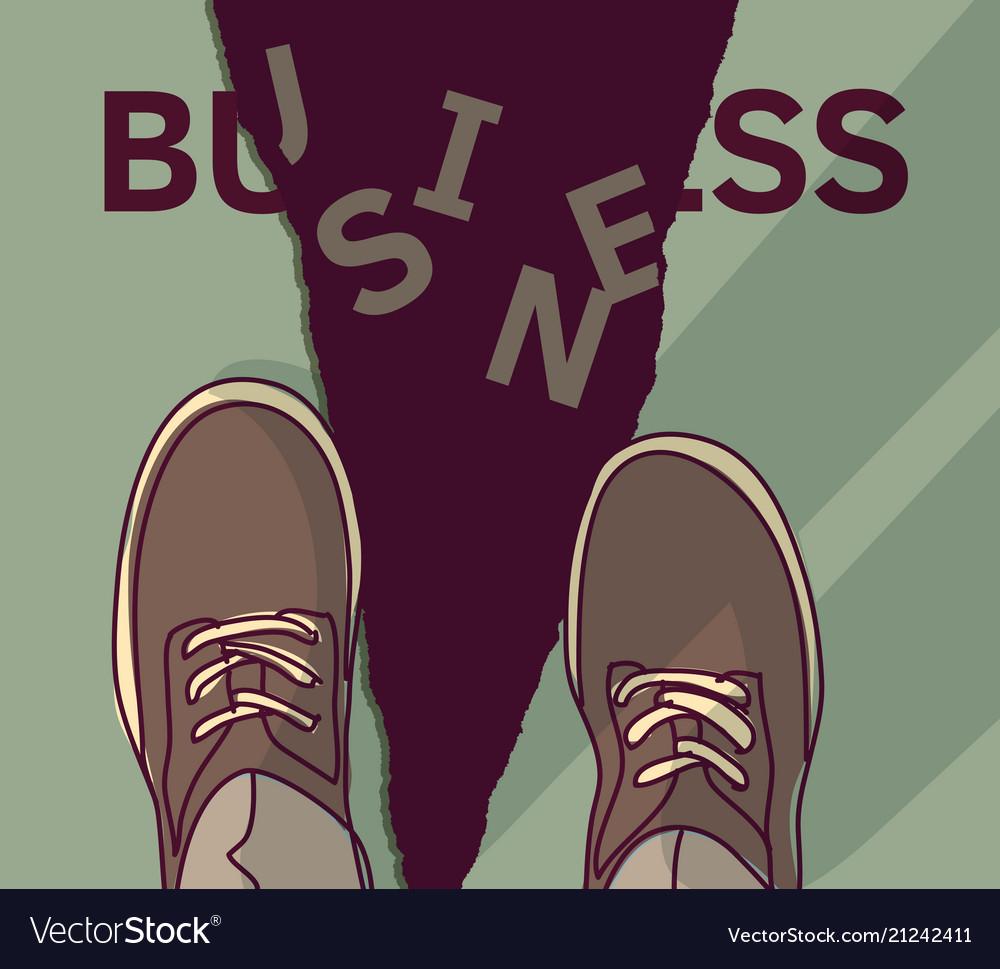 Business crash disaster financial sign economic