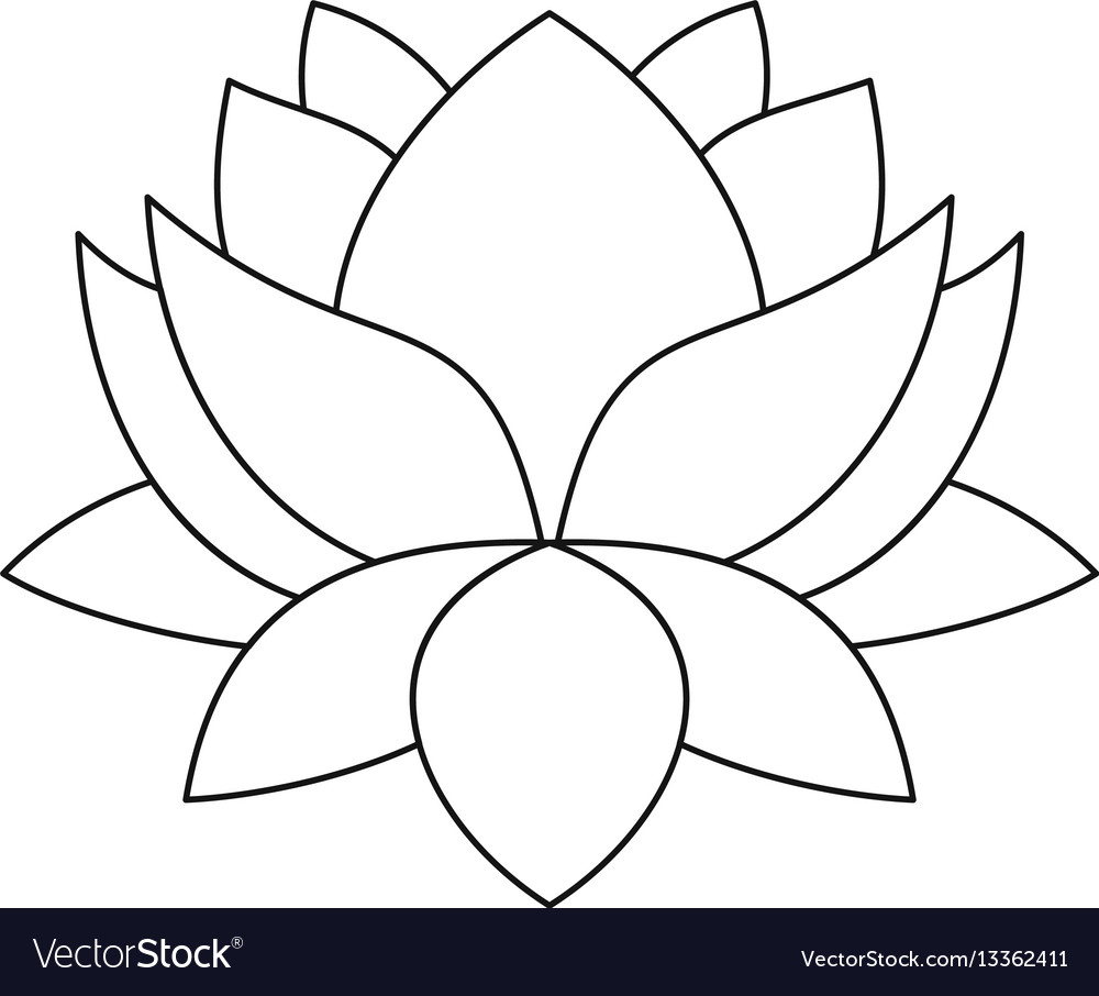 Lotus flower icon outline style royalty free vector image lotus flower icon outline style vector image mightylinksfo