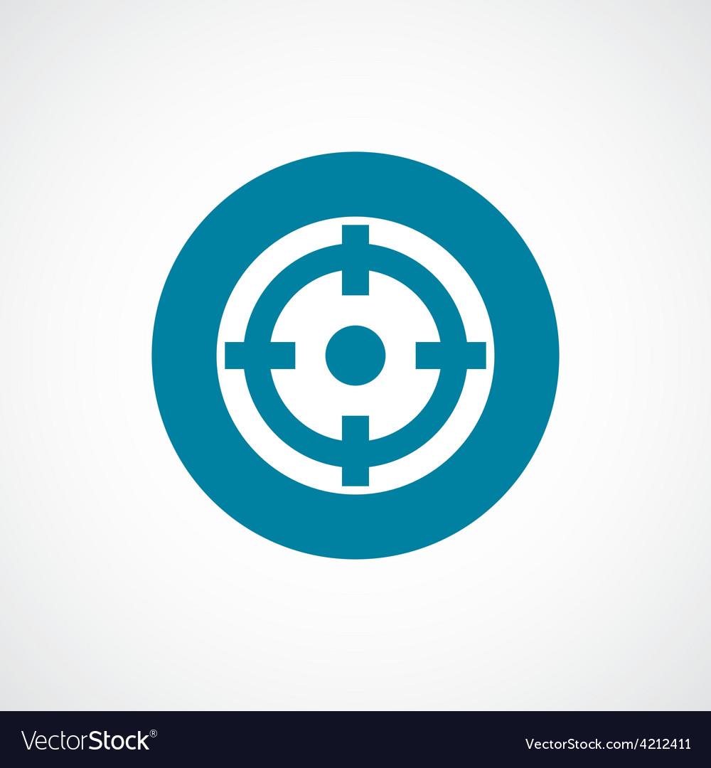 Optical sight icon bold blue circle border