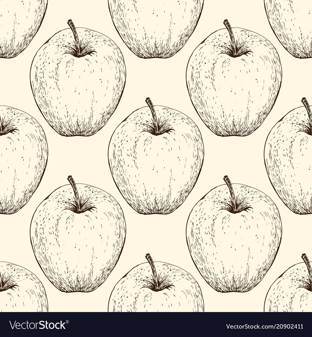 Tomato handdrawn seamless pattern in the