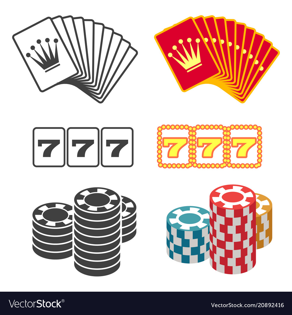Casino design black and colorful playing cards