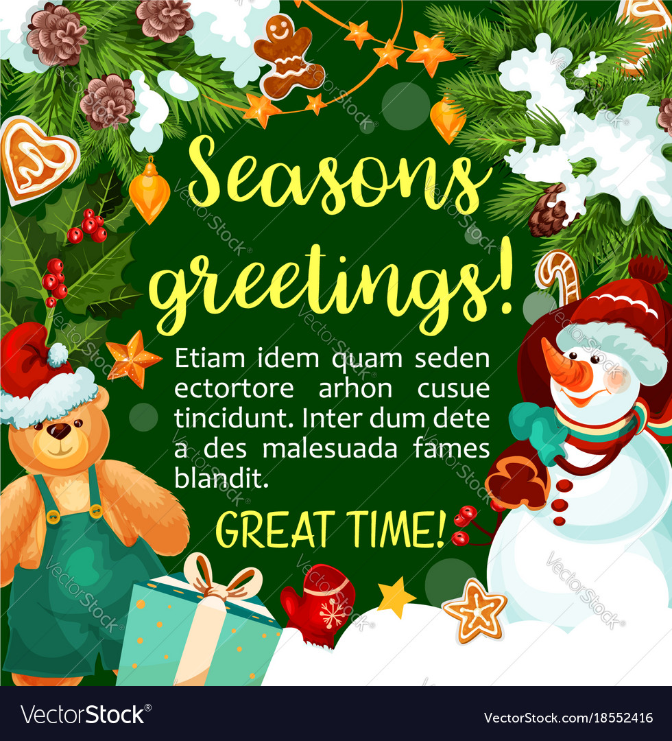 Christmas winter holiday season greeting vector image m4hsunfo