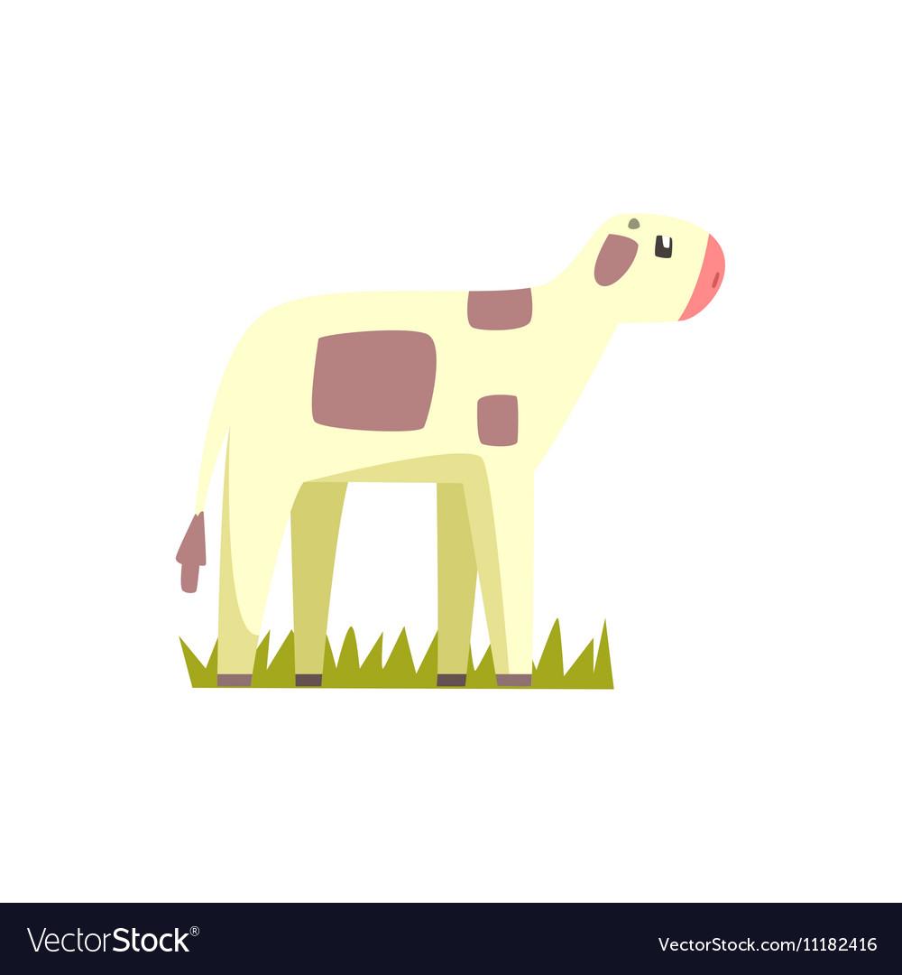Cow Calf Toy Farm Animal Cute Sticker