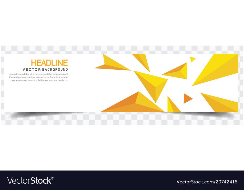 Modern yellow crystal white background headline ve