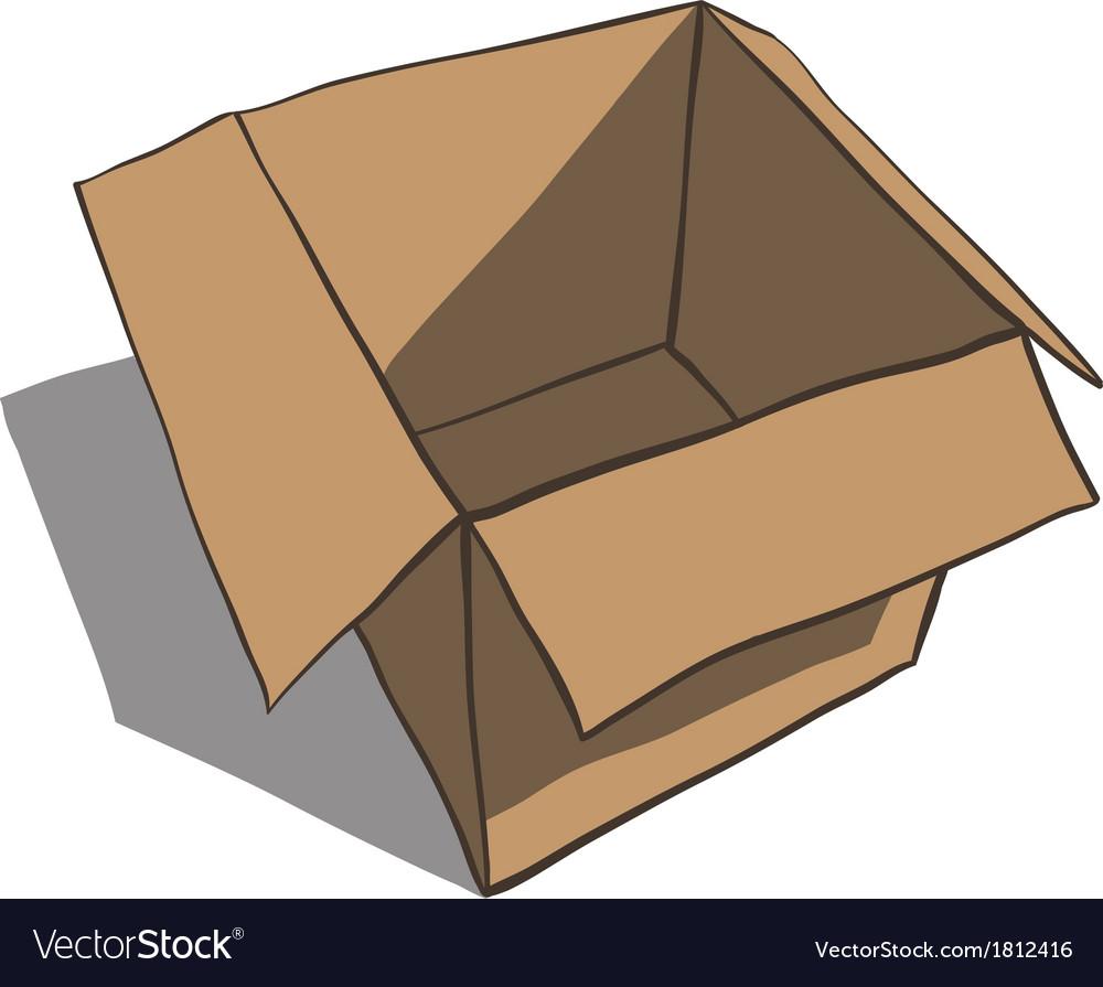 Open box isolated on white background Cartoon