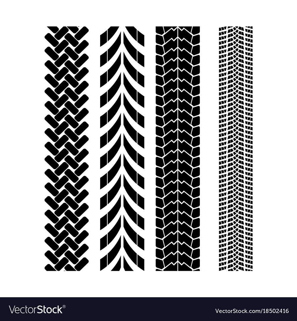 tire track brush seamless border royalty  vector image