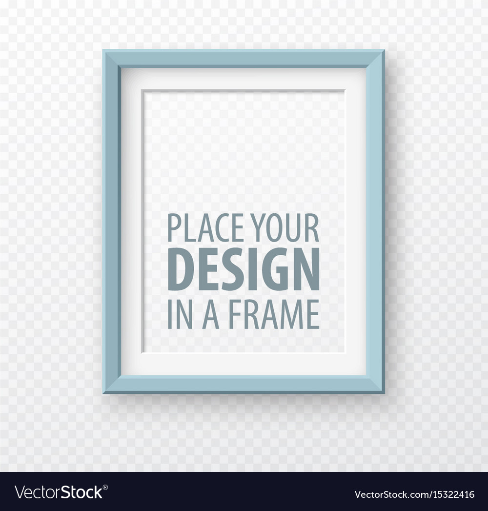Vertical frame mock up on transparence background