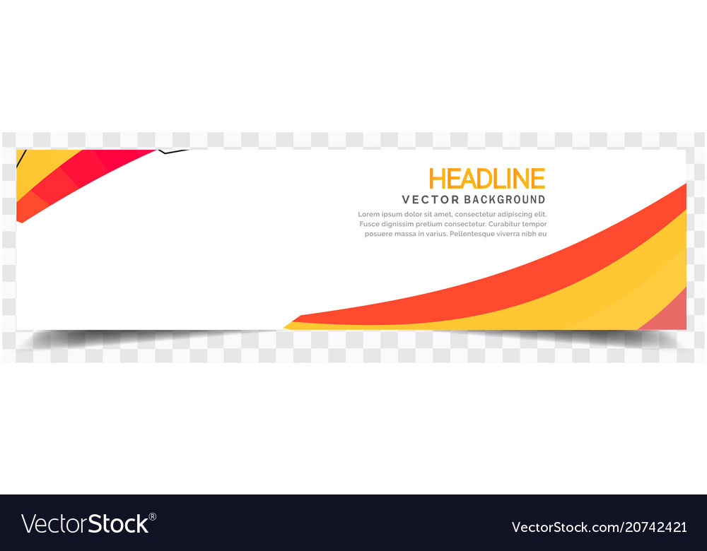 Abstract yellow red white background headline vect
