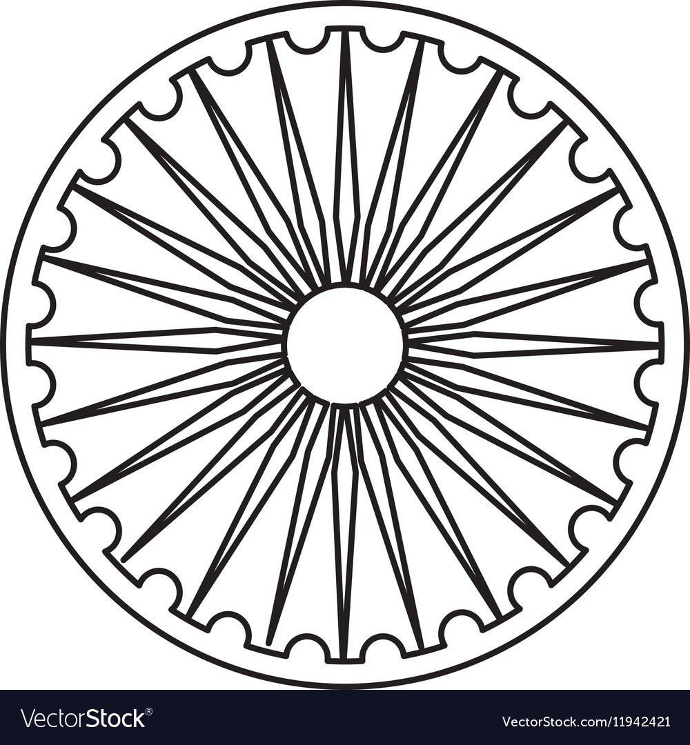 Ashoka Chakra Symbol Royalty Free Vector Image
