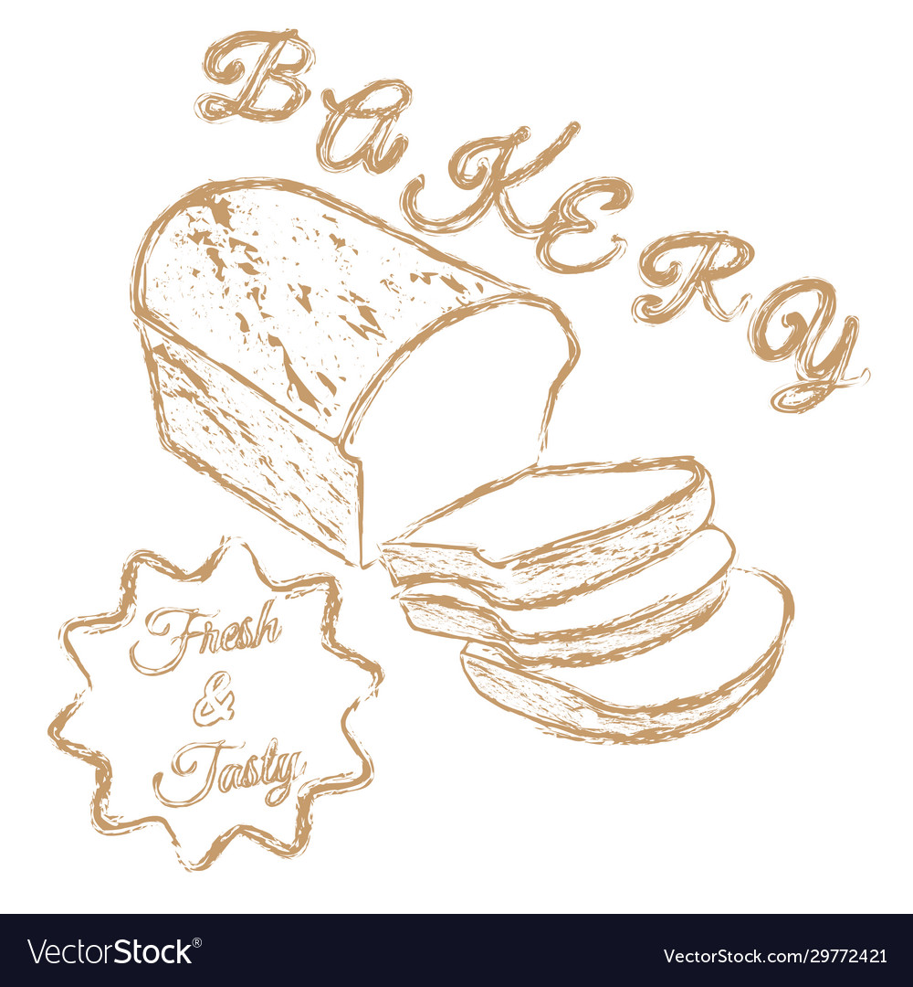 Bakery logo chalk hand drawn