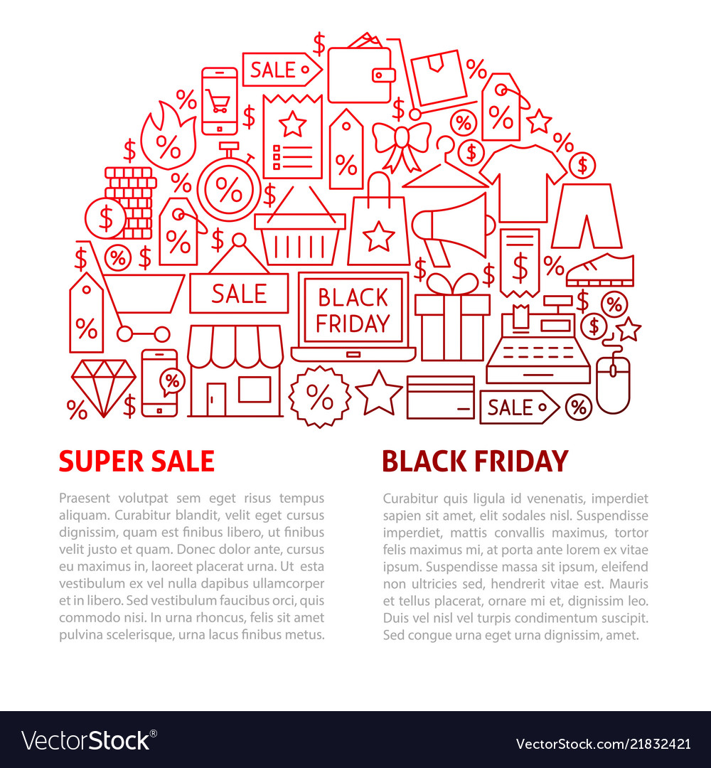 Black friday line template