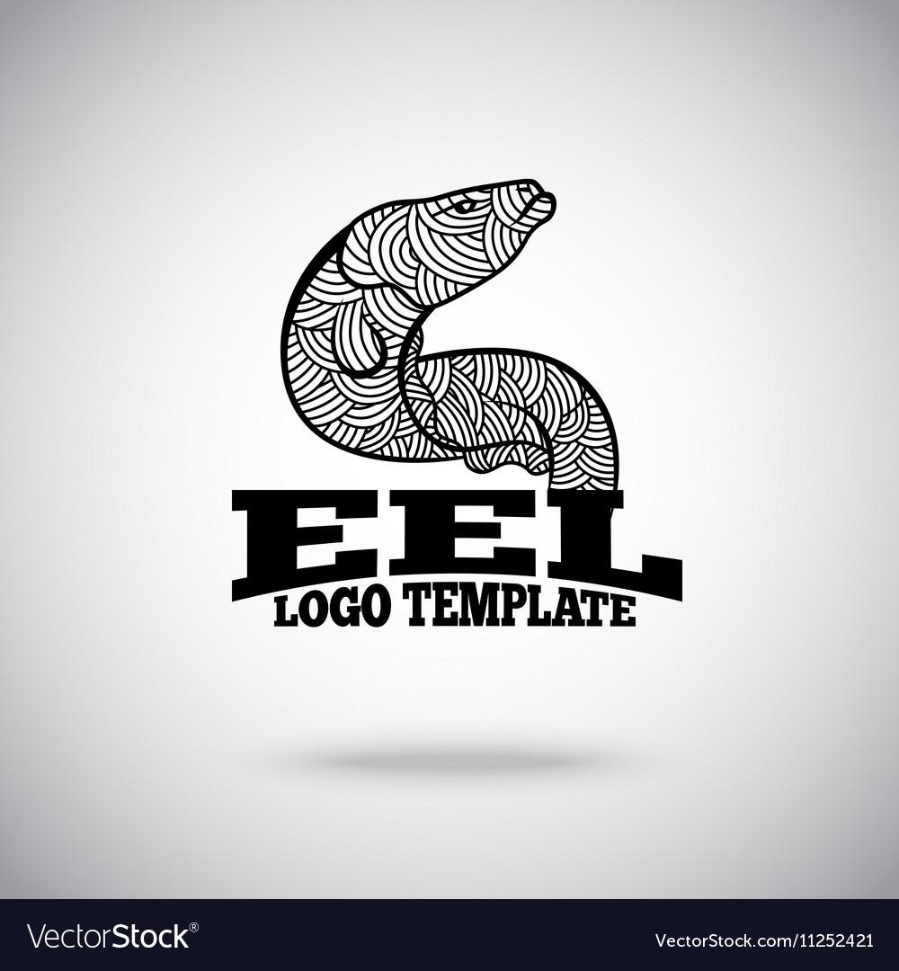Eel logo concept for sport teams business vector image