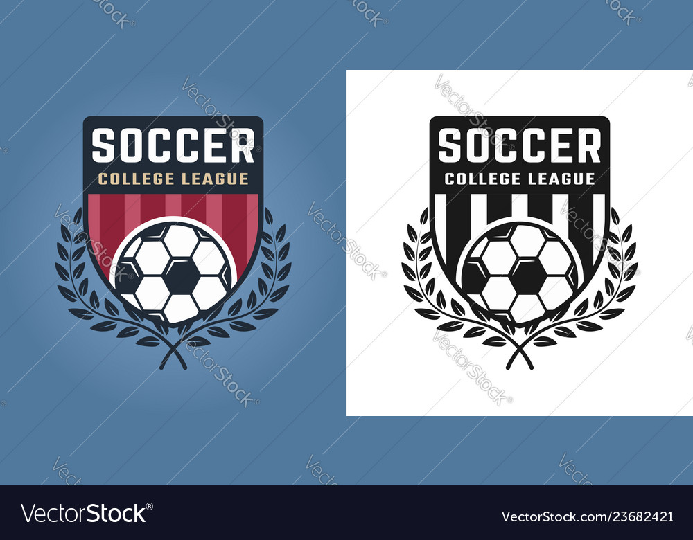 Football or soccer two styles emblems or logos