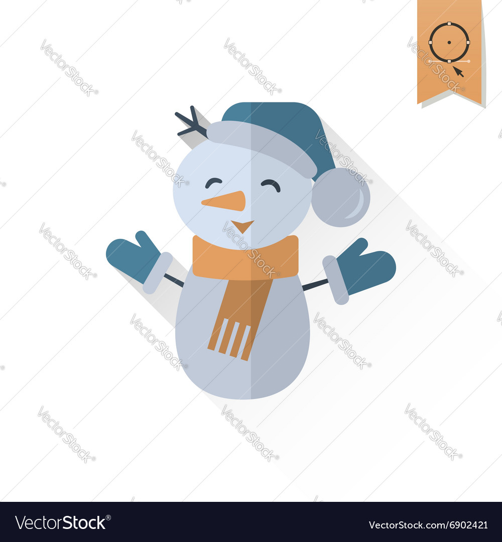 Funny Snowman With Scarf