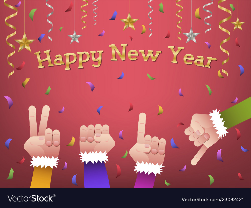 Happy new year 2019 shaped hands