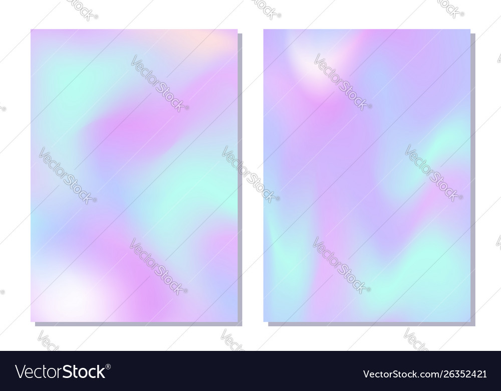 Holographic gradient cover set retro style