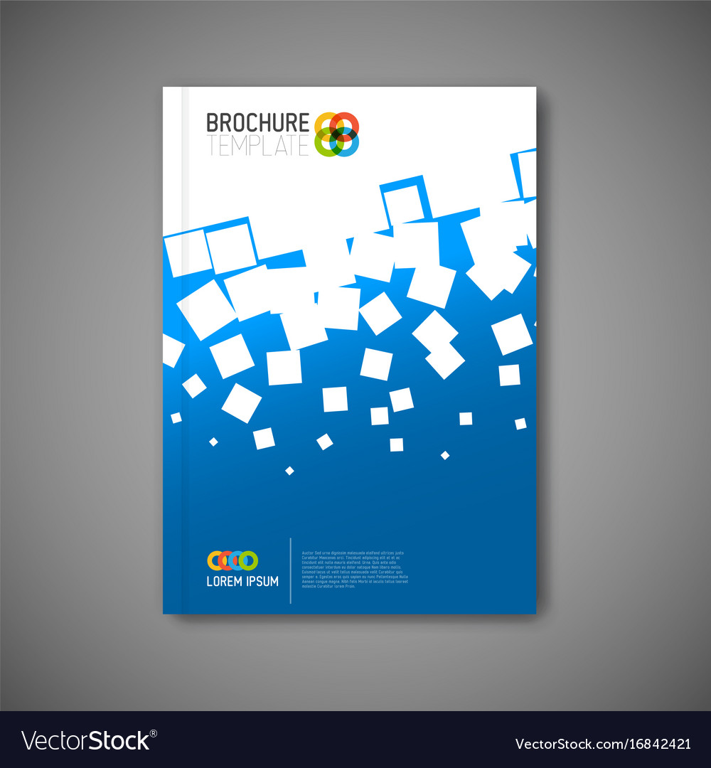 Modern abstract brochure report design template