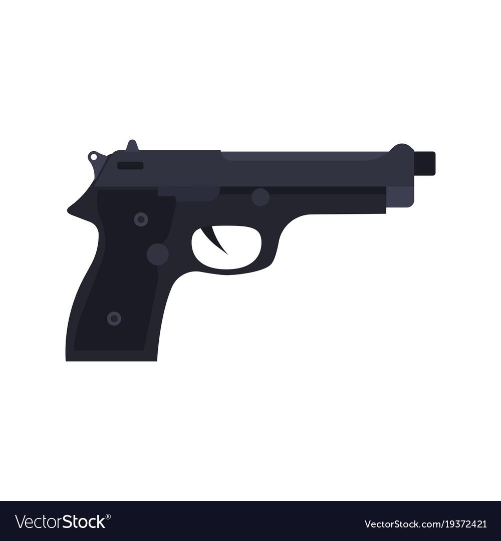 police pistol icon gun handgun weapon isolated vector image vectorstock