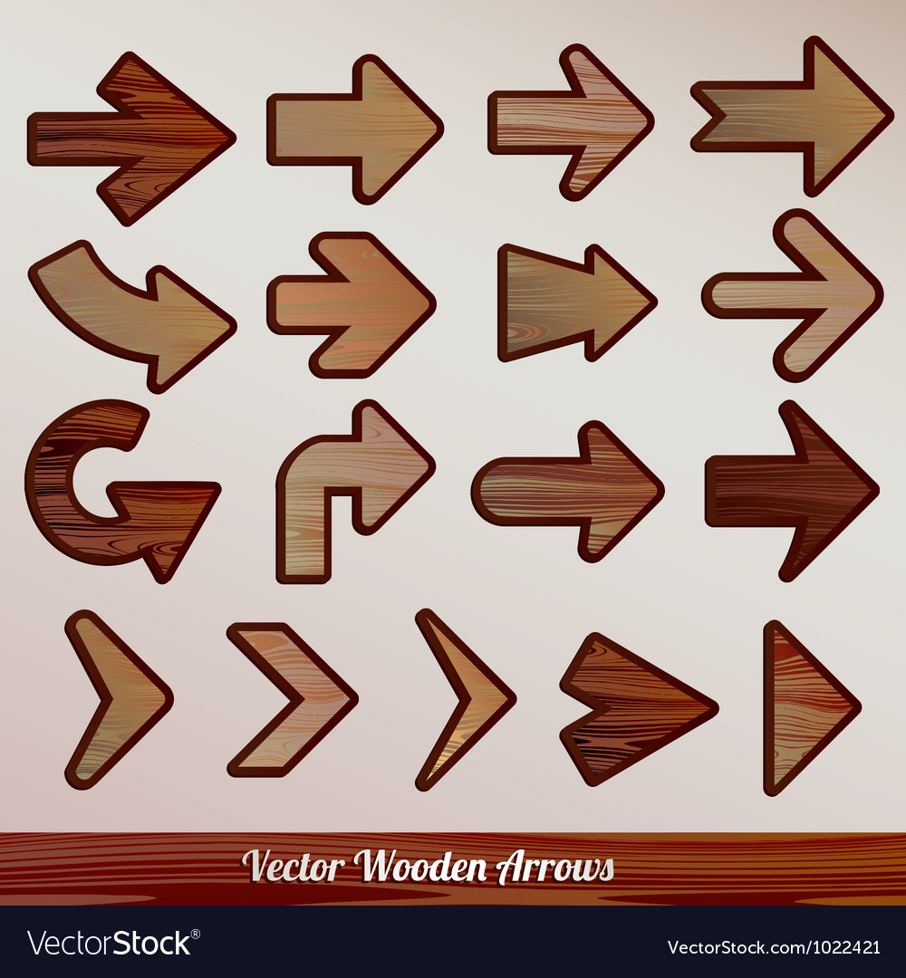 Set arrows wooden