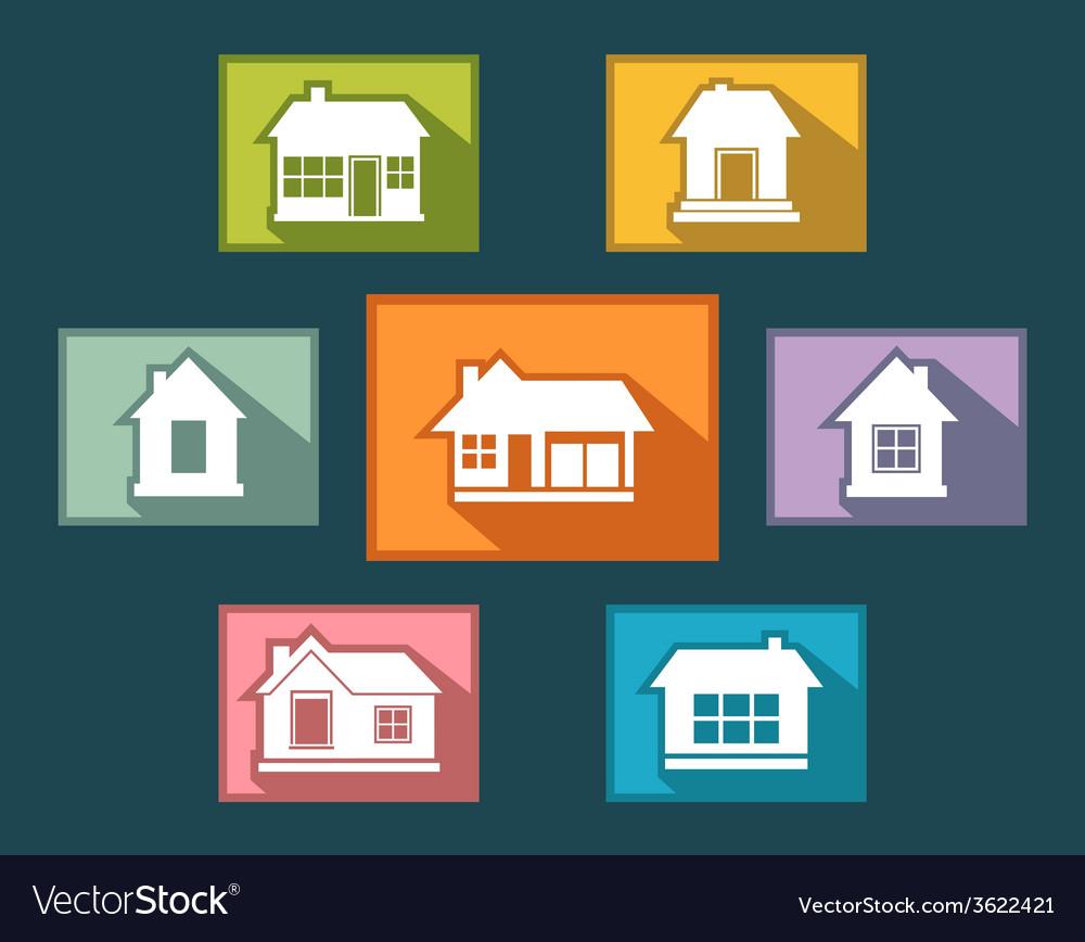 Set colorful cottage buttons