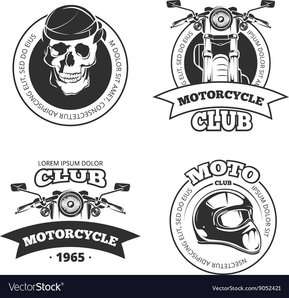 Vintage motorcycle or motorbike club