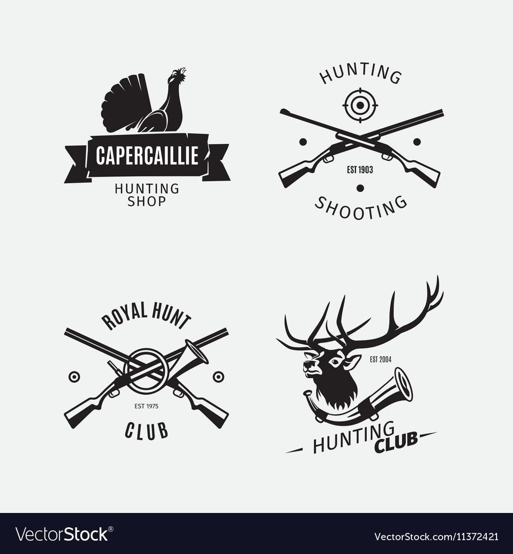 Vintage style hunt club logo