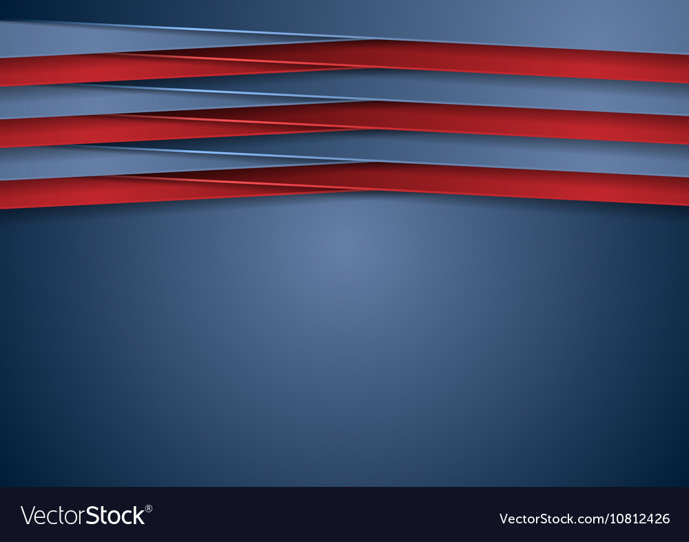Abstract tech corporate blue and red background vector image