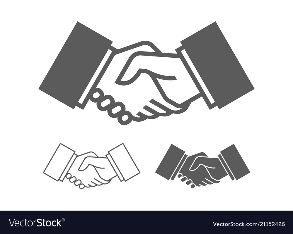Business handshake icons vector