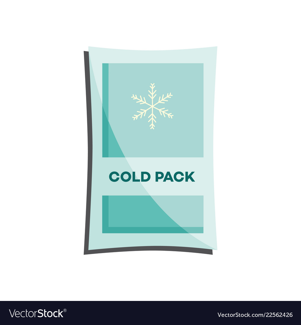 Cold pack with liquid or gel for first aid in case
