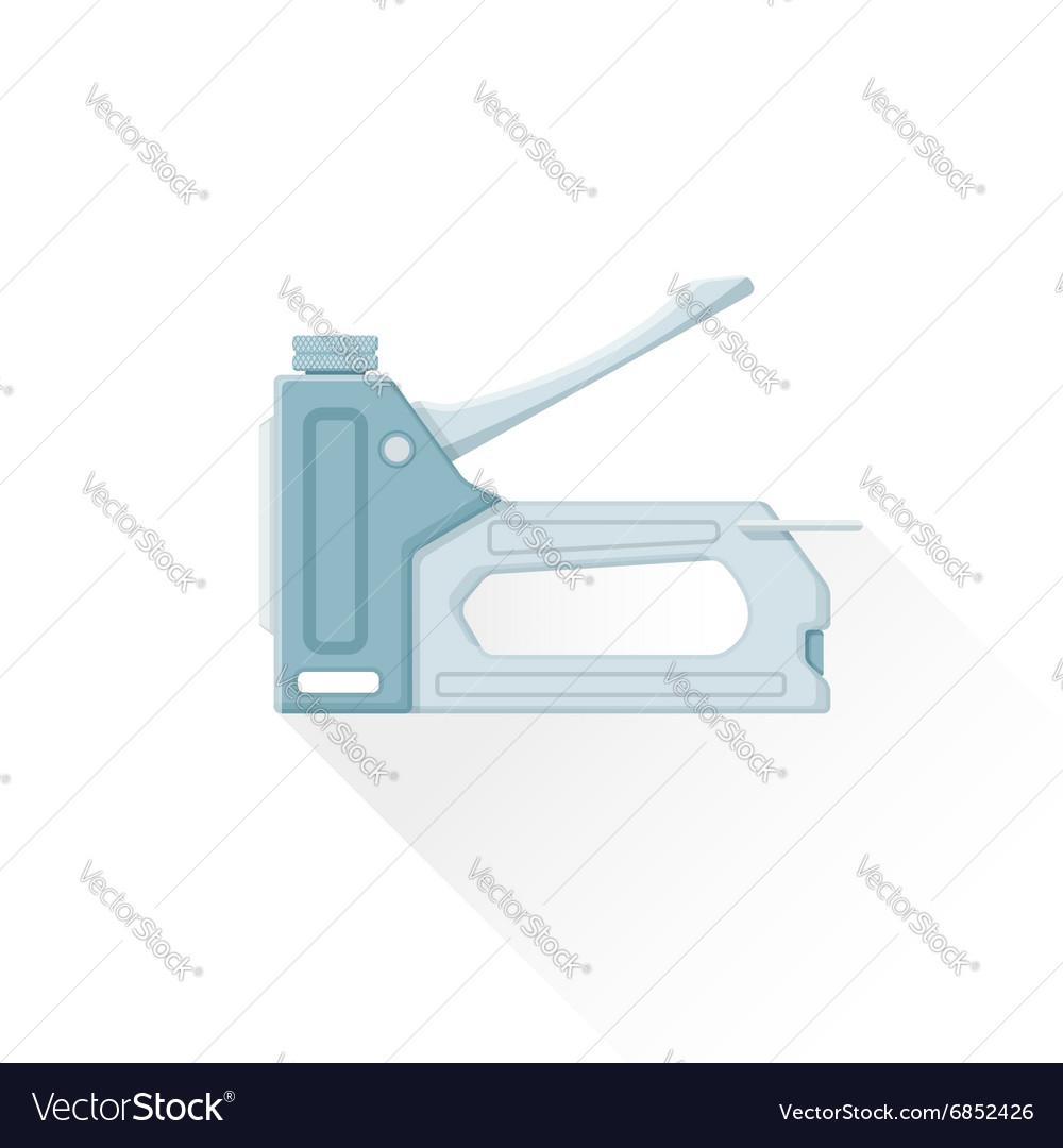 Flat metal staple gun icon