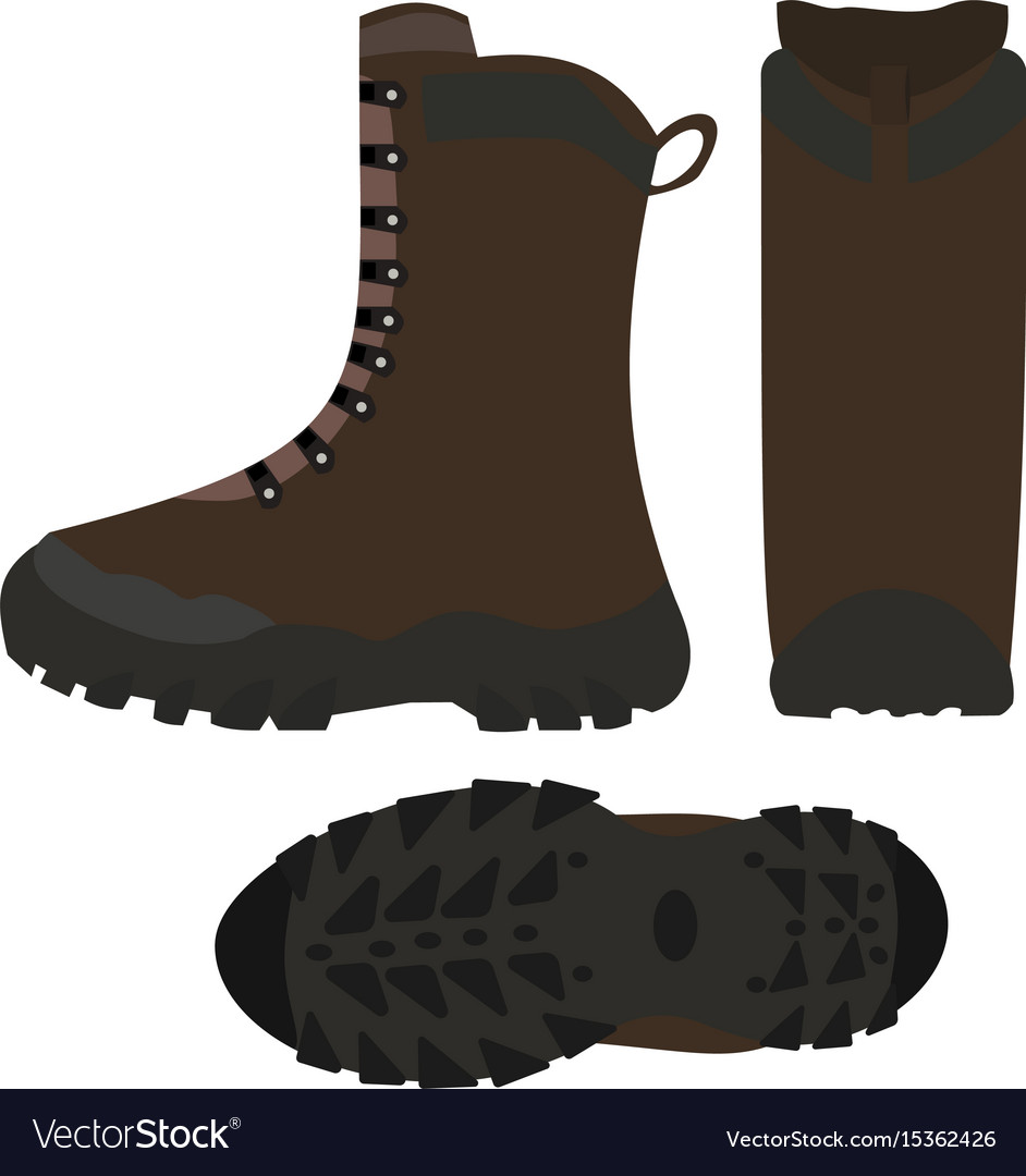 Hiking shoes boots isolated