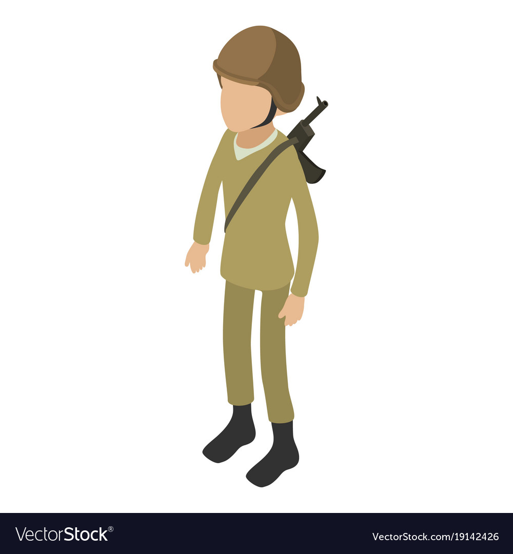 soldier army icon isometric 3d style royalty free vector rh vectorstock com soldier vector free soldier vector png