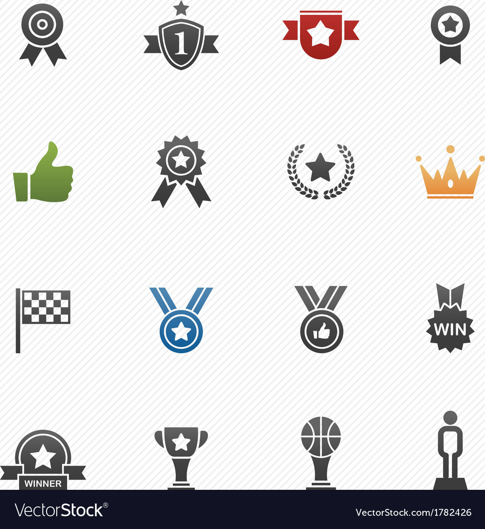 Trophy and prize symbol icons