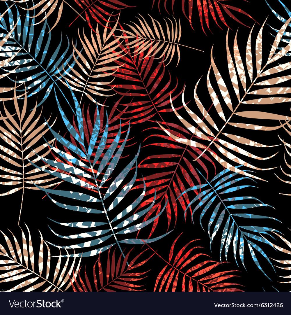 Tropical palm tree foliage