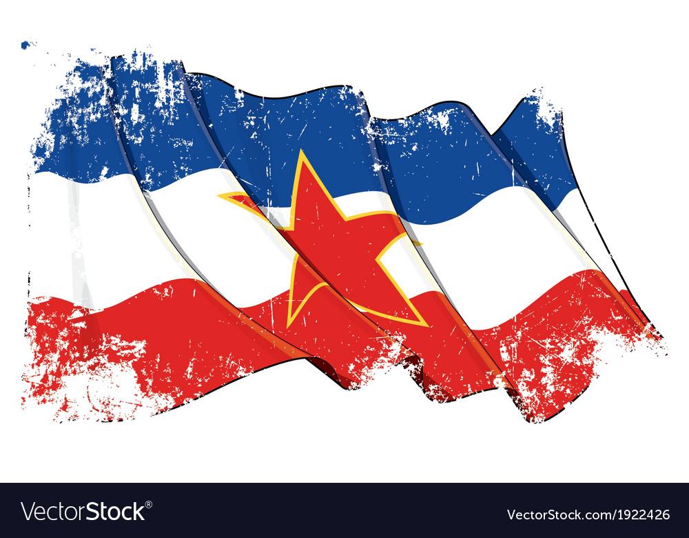 Yugoslavian flag grunge