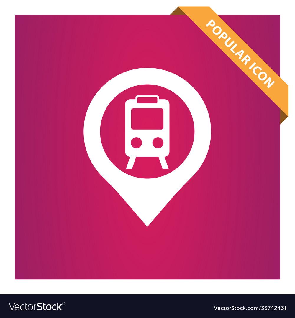 City railway station pin icon
