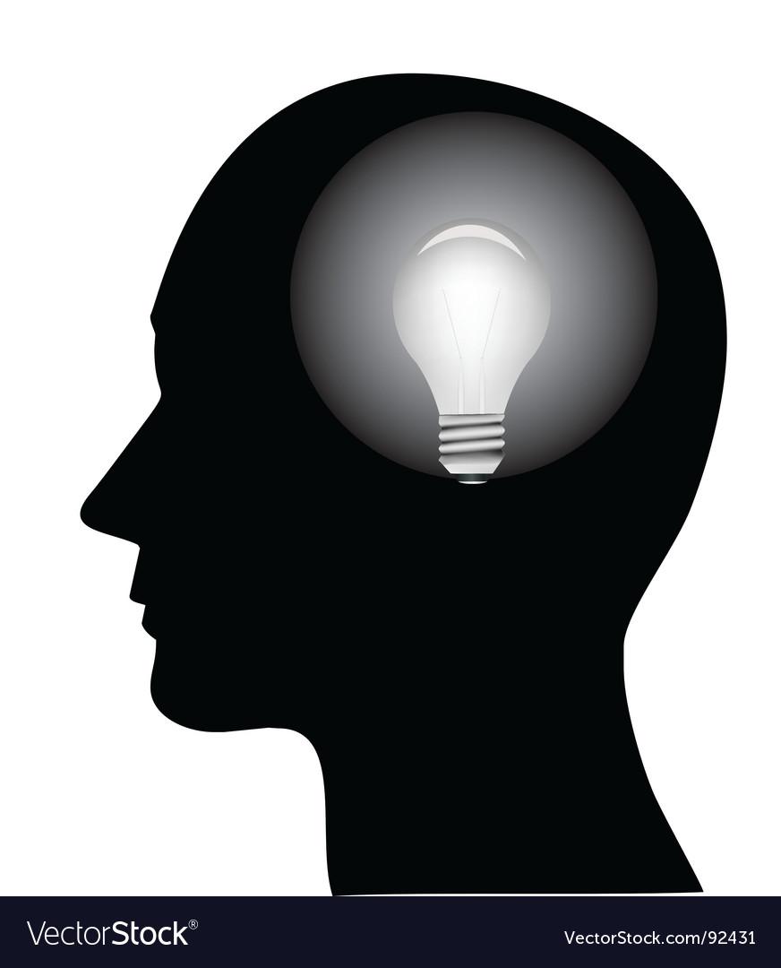 Concept of a bright idea vector image