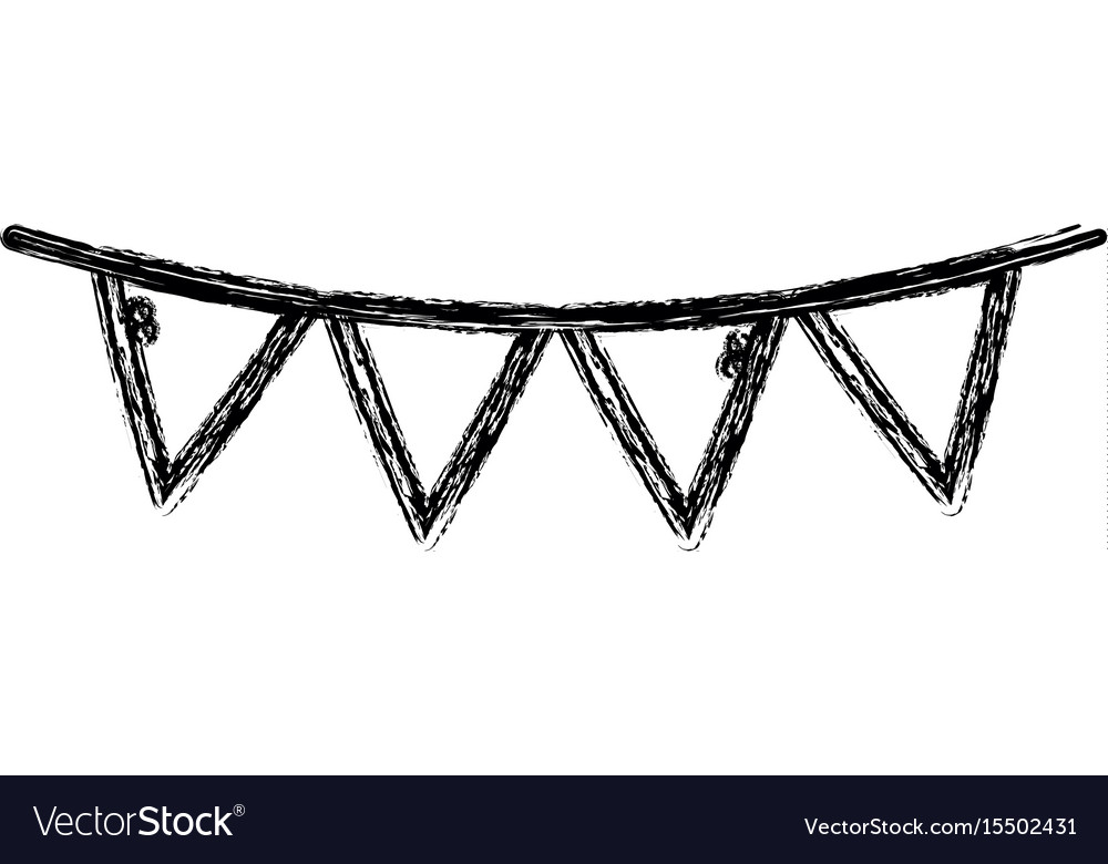 Figure flag party to decoration design vector image