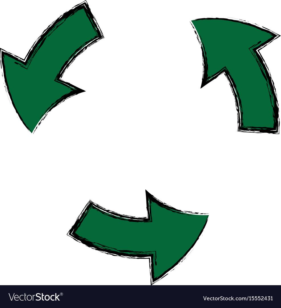 Green arrow recycle environment ecology symbol