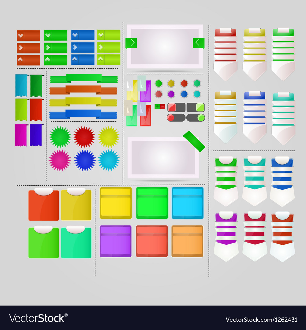 Interesting User Interface Design vector image