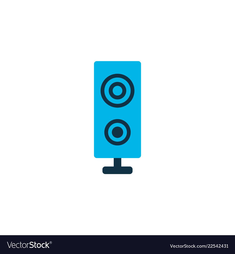 Loudspeaker icon colored symbol premium quality