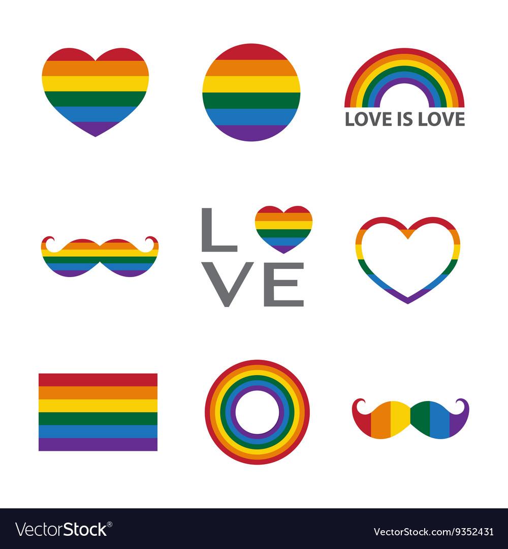 Rainbow iconLGBT support symbol