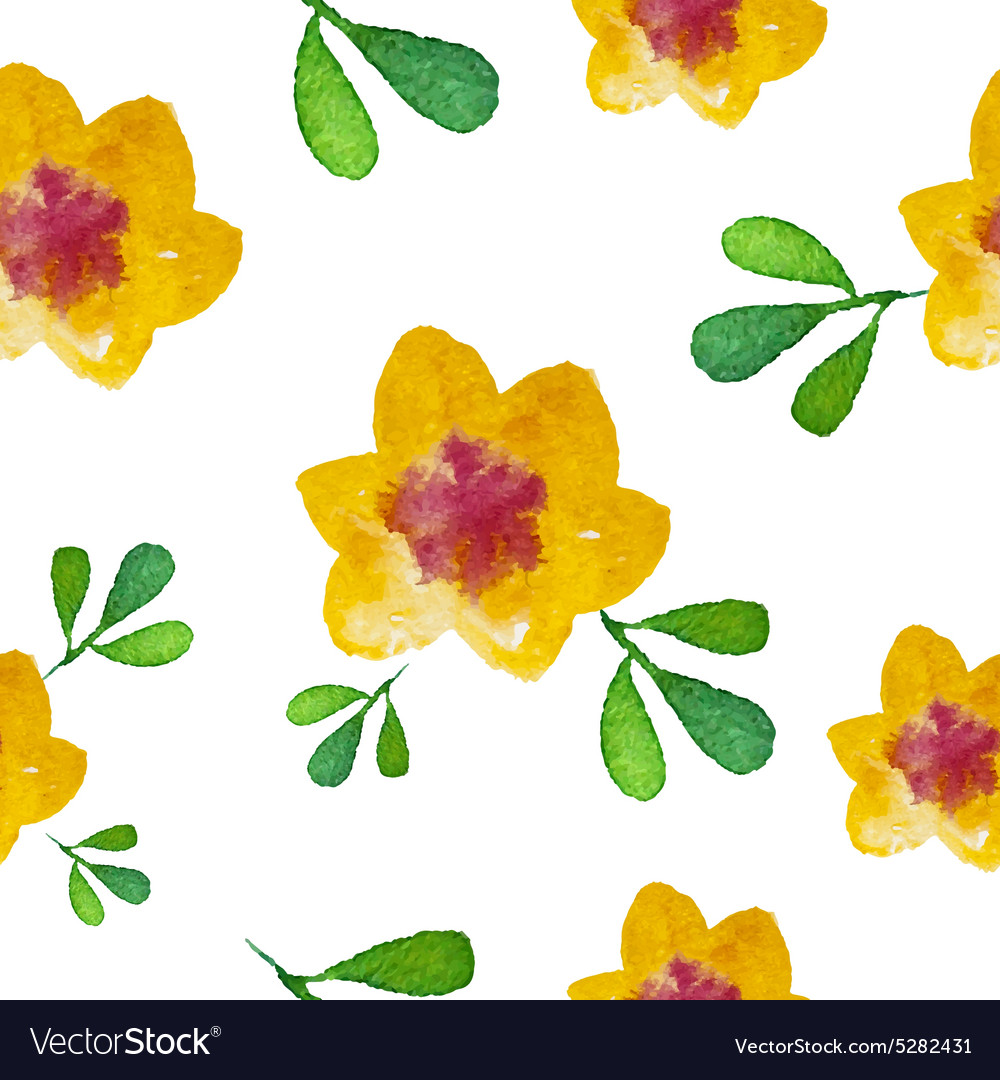 Watercolor flower Seamless Background