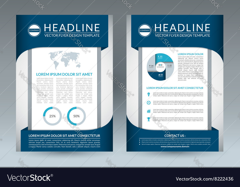 Brochure flyer design layout template A4 size vector image