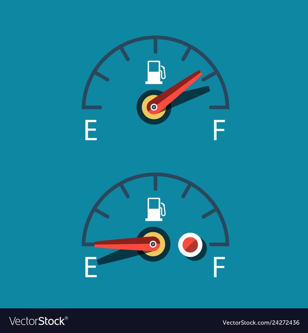 Car fuel icon dashboard symbols set