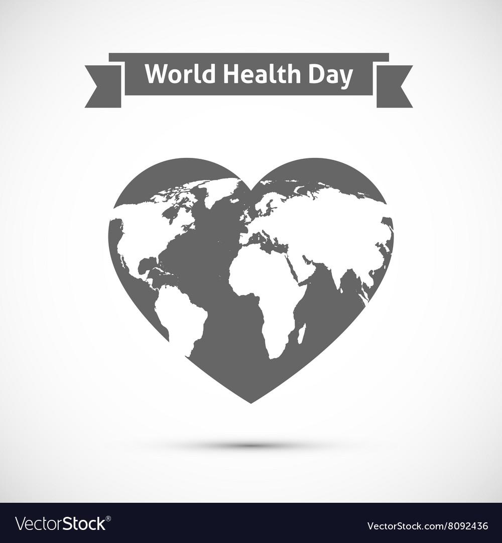 Earth map on heart