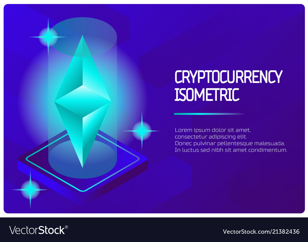 Ethereum color isometric banner